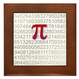 Delicious Pi Framed Tile