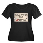 WILL WORK FOR SHOES Women's Plus Size Scoop Neck D