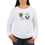 Bee & Panda Attitude/Humor Women's Long Sleeve T-S