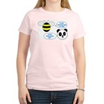 Bee & Panda Attitude/Humor Women's Light T-Shirt
