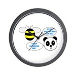 Bee & Panda Attitude/Humor Wall Clock