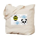 Bee & Panda Attitude/Humor Tote Bag