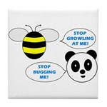 Bee & Panda Attitude/Humor Tile Coaster