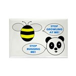 Bee & Panda Attitude/Humor Rectangle Magnet