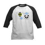 Bee & Panda Attitude/Humor Kids Baseball Jersey