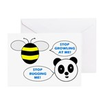 Bee & Panda Attitude/Humor Greeting Cards (Pk of 2