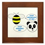 Bee & Panda Attitude/Humor Framed Tile