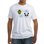 Bee & Panda Attitude/Humor Fitted T-Shirt