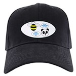 Bee & Panda Attitude/Humor Black Cap