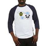 Bee & Panda Attitude/Humor Baseball Jersey