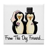 Mr & Mrs Penguin (From This Day Forward) Tile Coas