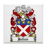 Julien Family Crest Tile Coaster