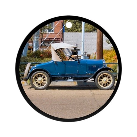 Antique Car Ornament (Round)