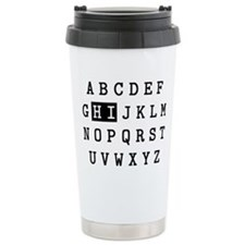 Alphabet Hi Ceramic Travel Mug
