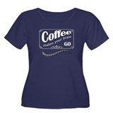 Coffee Women's Plus Size Scoop Neck Dark T-Shirt