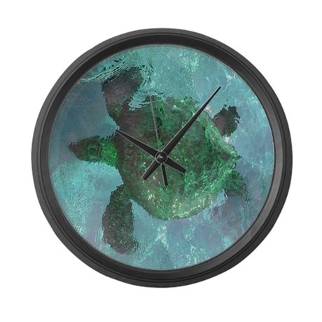 Green Sea Turtle Large Wall Clock