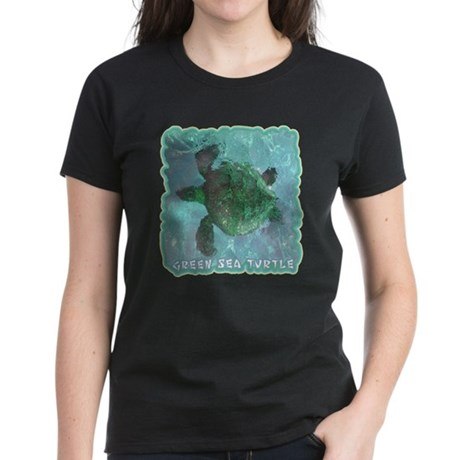 Green Sea Turtle Women's Dark T-Shirt