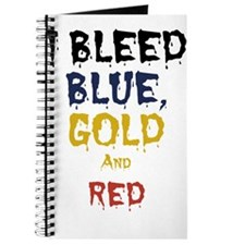 I Bleed Blue, Red, & Gold Journal