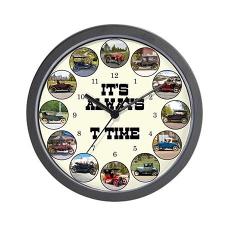 T Time antique car Wall Clock