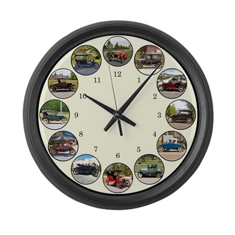 Antique Car Large Wall Clock