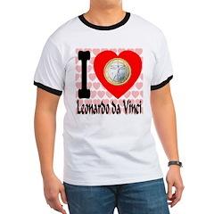 I Love Leonardo da Vinci Ringer T