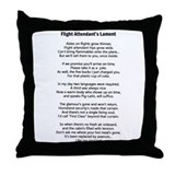 Flight Attendant's Lament Throw Pillow