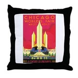 Chicago World's Fair 1933 Throw Pillow