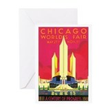Chicago World's Fair 1933 Greeting Card