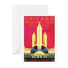 Chicago World's Fair 1933 Greeting Cards (Pk of 20