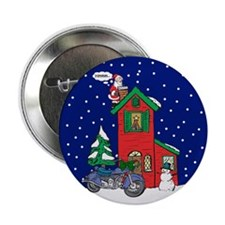 "A Motorcycle For Christmas 2.25"" Button (10 pack)"