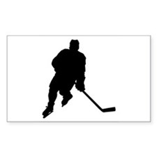 Hockey Player Rectangle Decal