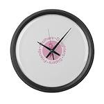 Pink Ribbon -Circle Large Wall Clock