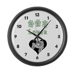 Cat Lovers Large Wall Clock