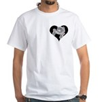 Cat Lovers White T-Shirt