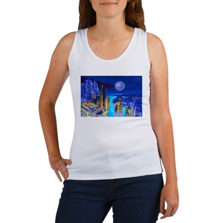 Fantasy Cityscape Women's Tank Top