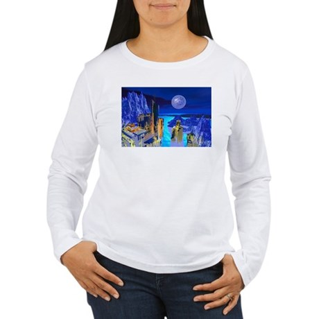 Fantasy Cityscape Women's Long Sleeve T-Shirt