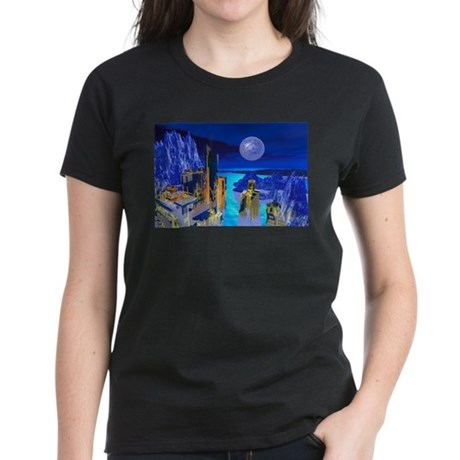 Fantasy Cityscape Women's Dark T-Shirt