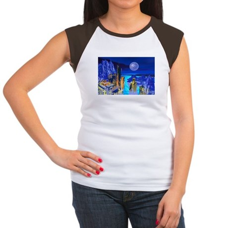 Fantasy Cityscape Women's Cap Sleeve T-Shirt