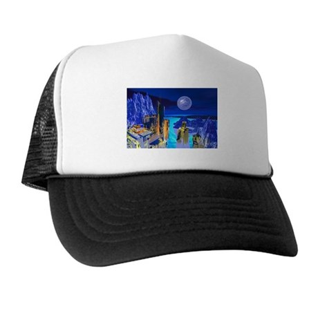 Fantasy Cityscape Trucker Hat
