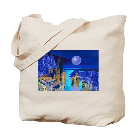 Fantasy Cityscape Tote Bag