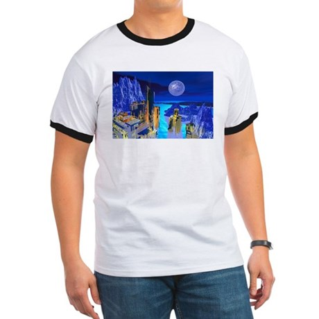 Fantasy Cityscape Ringer T