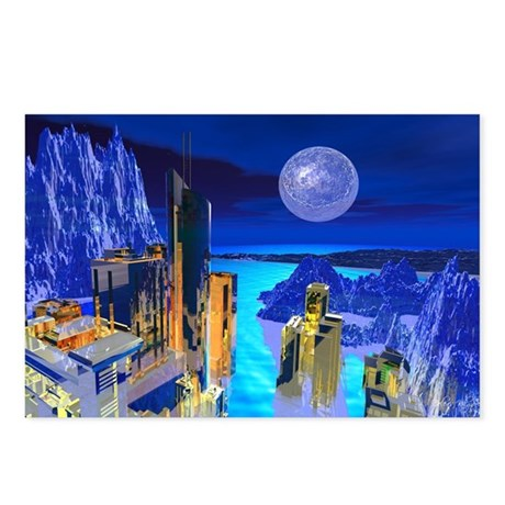 Fantasy Cityscape Postcards (Package of 8)