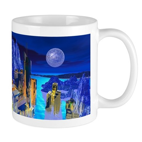 Fantasy Cityscape Mug