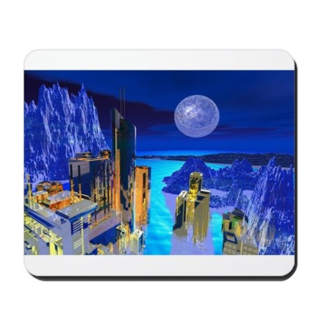Fantasy Cityscape Mousepad