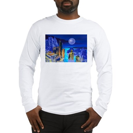 Fantasy Cityscape Long Sleeve T-Shirt