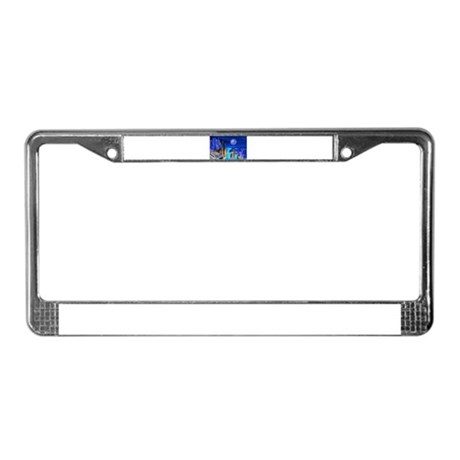Fantasy Cityscape License Plate Frame