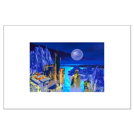 Fantasy Cityscape Large Poster