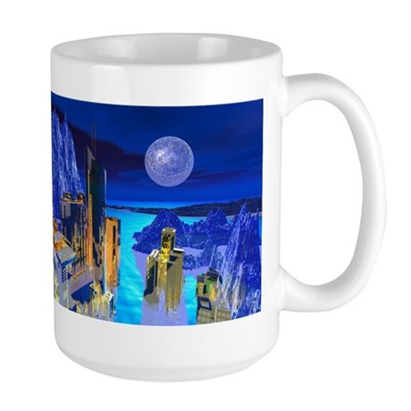 Fantasy Cityscape Large Mug