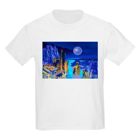 Fantasy Cityscape Kids Light T-Shirt