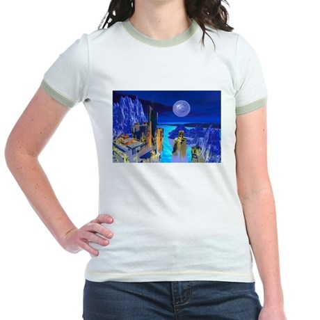 Fantasy Cityscape Jr. Ringer T-Shirt